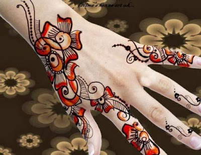 special fingers mehndi designs