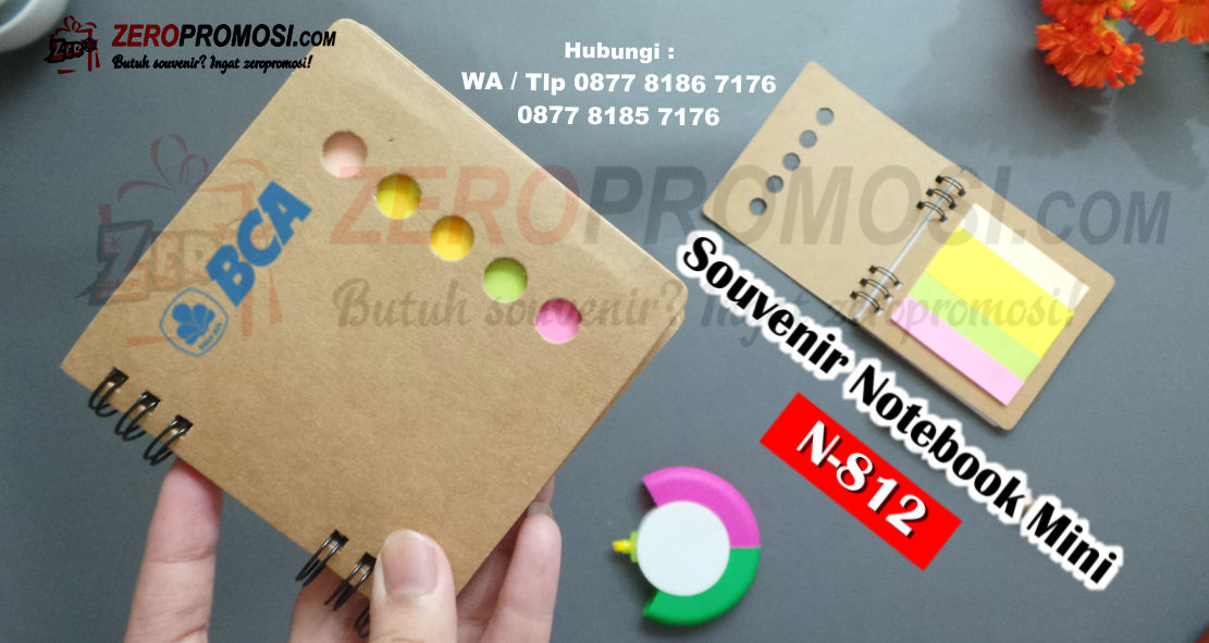 Notes Blocknote promosi, Stickiii Note Mini Memo POST IT NOTES, Notebook Mini + Post It N812 + Sablon (Notes)