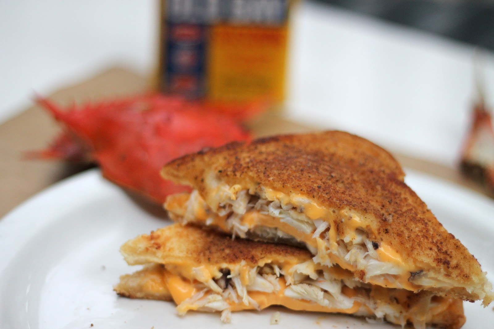 Crab Stuffed Grilled Cheese With Old Bay Seasoned Er