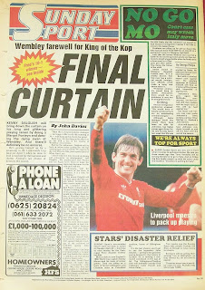 Sunday Sport newspaper back page from 22nd March 1987