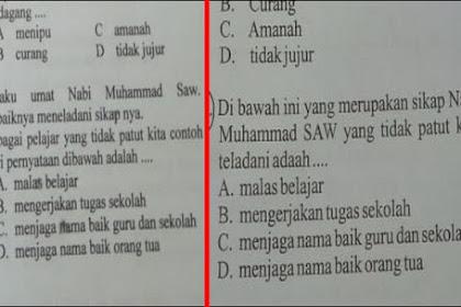 Soal SD Berisi Pelecehan Nabi Muhammad, Kepala Sekolah Minta Maaf Karena Salah Edit Soal