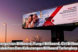 Pengertian Billboard, Fungsi Billboard, Ciri Billboard, Kelebihan Dan Kekurangan Billboard Terlengkap