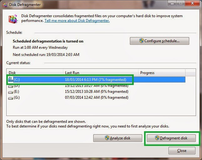6(z) - Disk Defragmentation- Tune Up My PC
