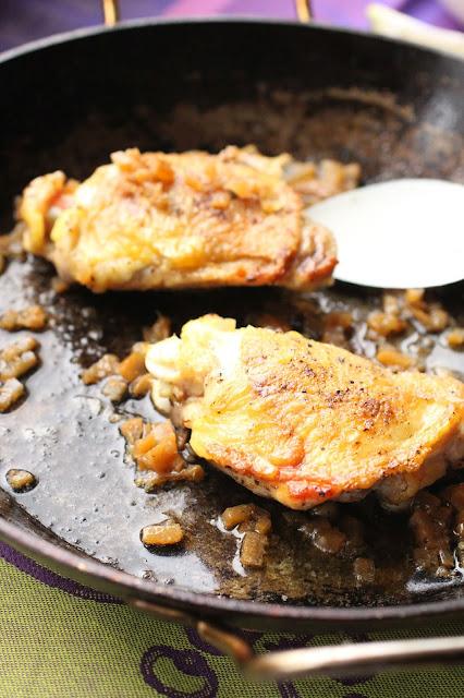 haut de cuisse de poulet juteux