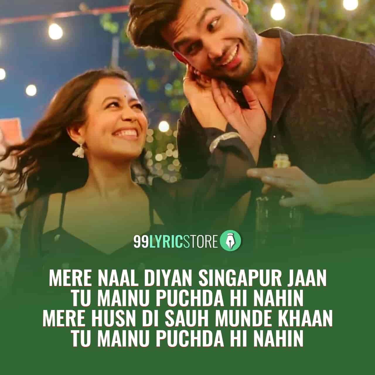 Puchda Hi Nahin Lyrics Images Neha Kakkar