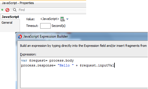OSB12c JavaScript Action Expression