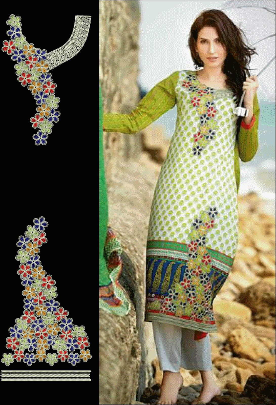 Latest embroidery designs for salwar kameez free download