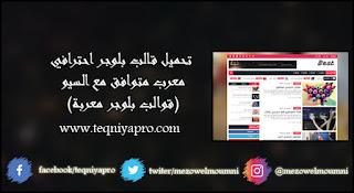 تحميل قالب بلوجر احترافي معرب متوافق مع السيو