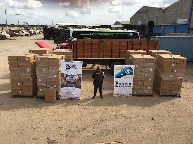 350  pacas de cigarrillo de contrabando se incautaron en Uribia