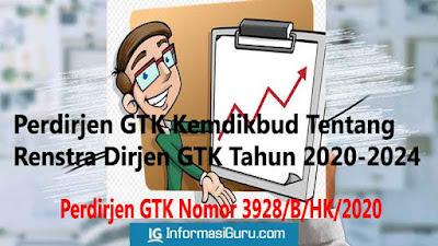 Download Perdirjen GTK Nomor 3928/B/HK/2020 Tentang Rencana Strategis/ Renstra Dirjen GTK Tahun 2020-2024 I pdf