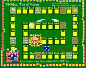 Smartboard's Interactive Math Game - Division Board Game (notebook file)