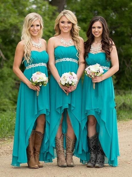 Good Quality Strapless Chiffon Bridesmaid Dresses