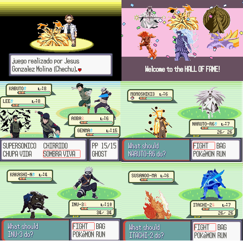 Pokemon Naruto Ruby GBA ROM Download