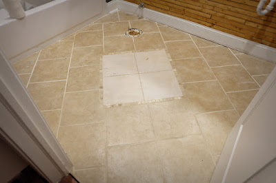 existing bath floor tile angle bad tiling ugly