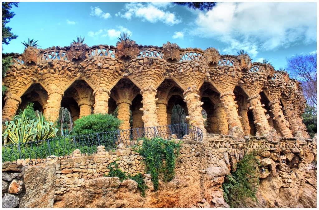 Parque Guell em Barcelona – Espanha