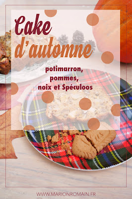 Cake d'automne, potimarron, pommes, noix et Spéculoos