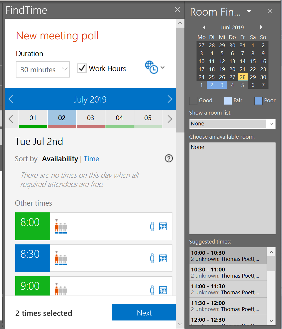 Find Time with Microsoft Teams Meeting (Online)