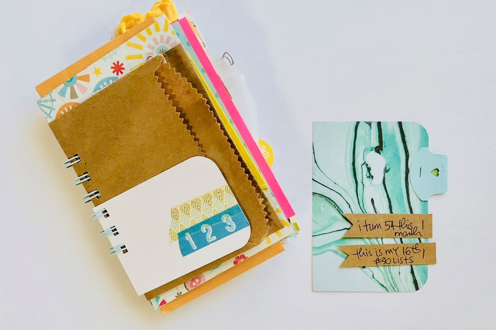 #30 Days of Lists #30lists #list journal #mini book #junk journal #mixed paper journal #listmaker #right now