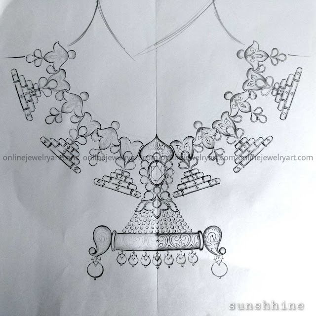 gold necklace antique jewellery designs