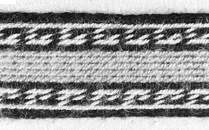 The same band as above, in greyscale, showing that the blue and green are too similar to be distinct from each other