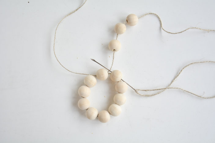 wooden beads star