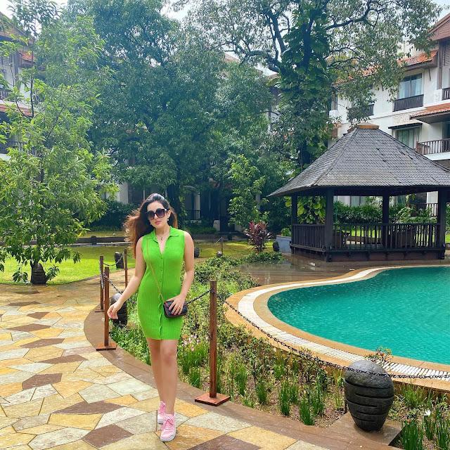 Aditi Budhathoki New Photos in Green Outfit Actress Trend
