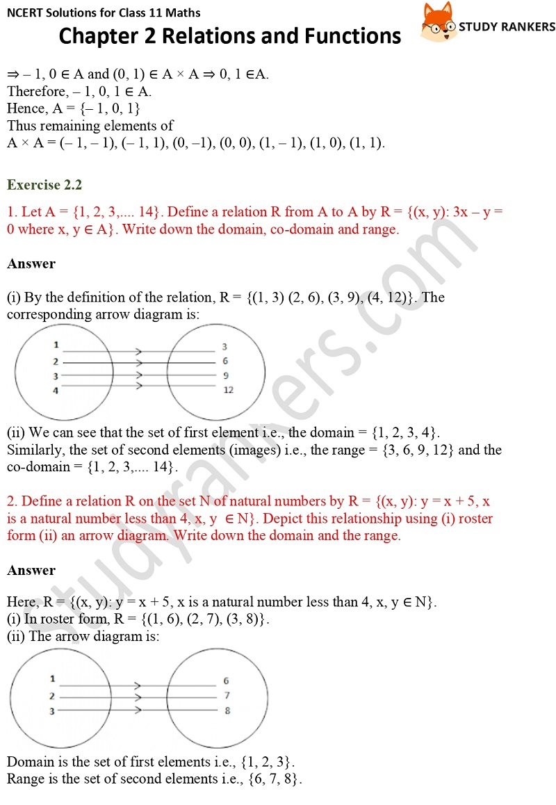 NCERT Solutions for Class 11 Maths Chapter 2 Relations and Functions 4