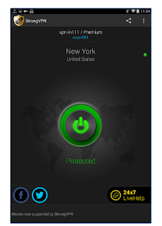 Terhubung ke Aplikasi StrongVPN