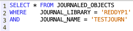 Retrieve Objects attached to a journal - IBM i