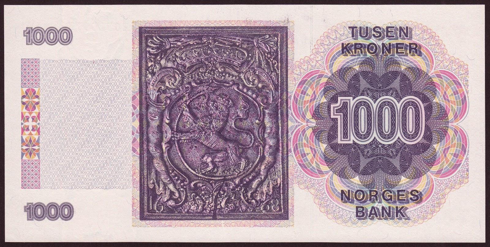 Norway Banknotes 1000 Kroner note