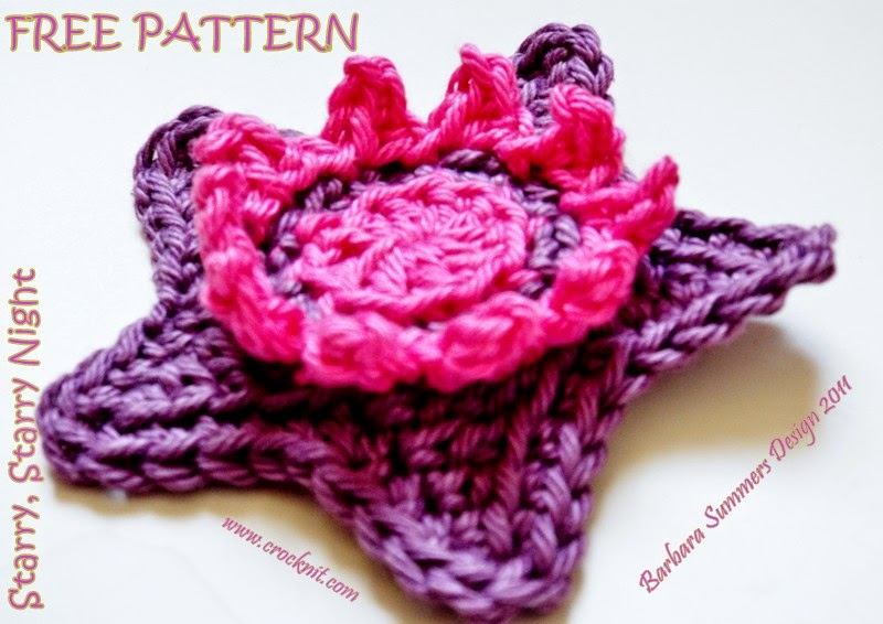 free crochet patterns, stars, starbursts, starshine, swirls, motifs, how to crochet