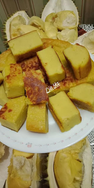 resepi kek durian, durian,  durian musang king, durian d24, durian tembaga