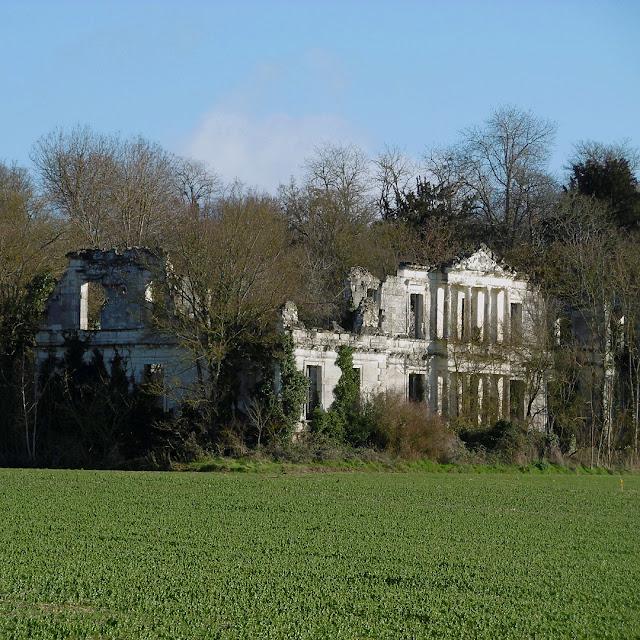 Ruin of Chateau de la Tourballiere, Indre et Loire, France. Photo by Loire Valley Time Travel.