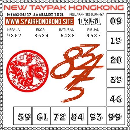 Prediksi Togel New Taypak Hongkong Minggu 17 Januari 2021
