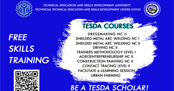 10 Courses Offered: PTESDC - Taytay Free Skills Training Avail