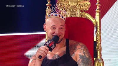 King of the ring 2019 winner Corbin on throne