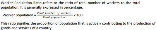 Define worker-population ratio. What does it signifies