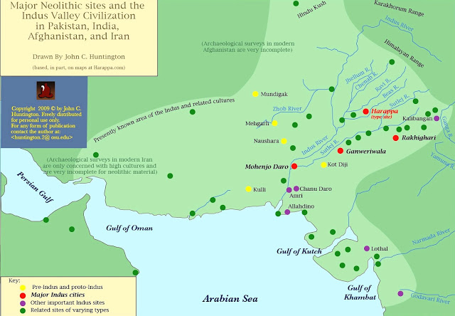 Earliest sites of Civilization in the Indian sub-continent<