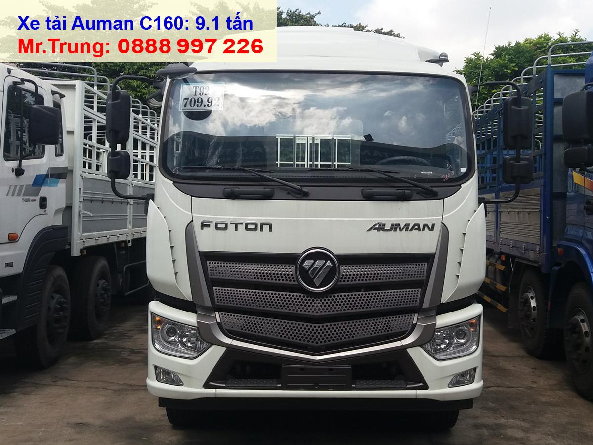Xe-tải-Thaco-Auman-C160-tải-trọng-9-tấn-thùng-dài-7.4-mét