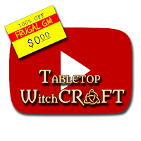 Free GM Resource: Tabletop Witchcraft YouTube Channel