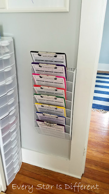 Montessori-inspired Daily Tasks Checklist Storage
