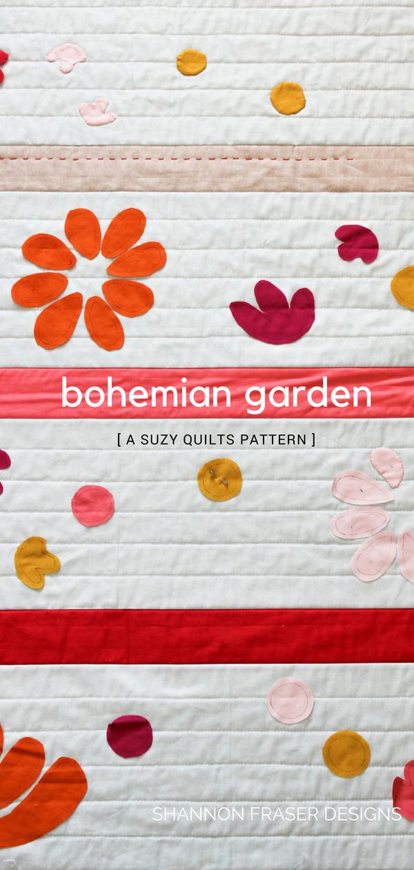 Bohemian Garden Quilt | Suzy Quilts Pattern | Shannon Fraser Designs | Baby Quilt