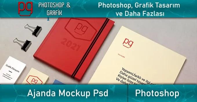 Ajanda Mockup İndir -  Agenda Mockup Free Download