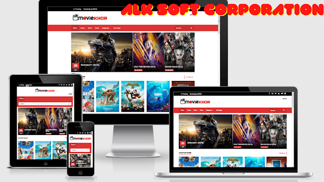 Movies Downloading Premium Blogger Theme Free Download By ALK Soft Corporation