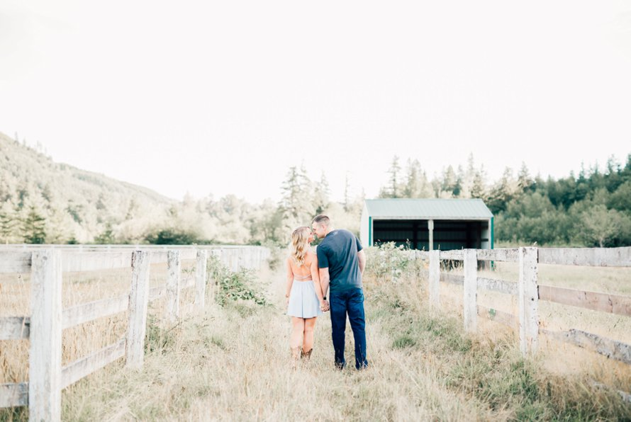 Bonney Lake Wedding Photographer | Rein Fire Ranch Engagement Session | Something Minted Photography