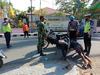 Kapolres Dompu Pimpin Patroli Gabungan Pencegahan Covid19