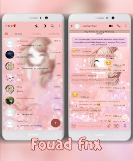 Pink Girl Theme For YOWhatsApp & Fouad WhatsApp By Ave fénix