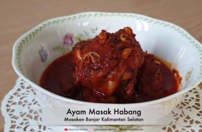 Ayam masak bumbu habang enak menu buka puasa
