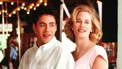 Robert Downey Jr and Cybill Shepherd in Chances Are (1989)
