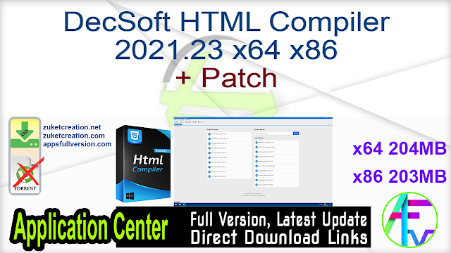 DecSoft HTML Compiler 2021.23 x64 x86 + Patch